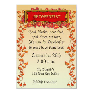 Oktoberfest Einladung 12,7 X 17,8 Cm Einladungskarte