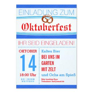 Oktoberfest Einladung dezent 11,4 X 15,9 Cm Einladungskarte