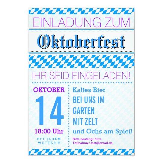 Oktoberfest Einladung Rauten