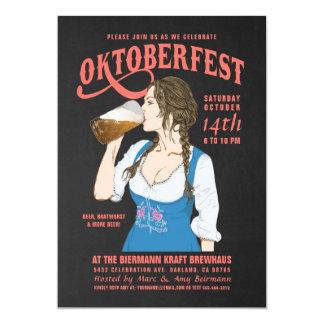 Oktoberfest Einladungen Oktoberfest Mädchen