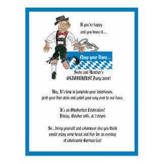 Oktoberfest Einladungs-personalisierte Postkarten