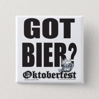 Oktoberfest erhielt Totenbahre? Quadratischer Button 5,1 Cm