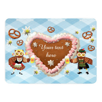 Oktoberfest Eulen 12,7 X 17,8 Cm Einladungskarte