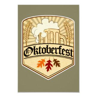 Oktoberfest Farbvektorentwurf 8,9 X 12,7 Cm Einladungskarte