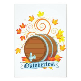 Oktoberfest Fass-Einladungen 12,7 X 17,8 Cm Einladungskarte