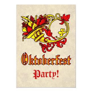 Oktoberfest Feier Ankündigung