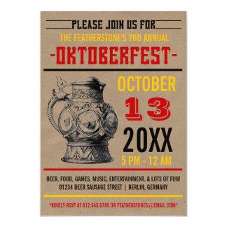 Oktoberfest Feier-Party Einladungen 12,7 X 17,8 Cm Einladungskarte