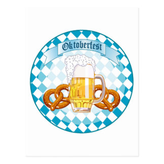 Oktoberfest Feier-runder Entwurf Postkarte
