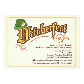 Oktoberfest Festival-Einladung 12,7 X 17,8 Cm Einladungskarte