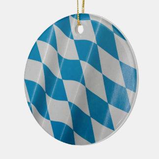 Oktoberfest Flagge färbt Bayern Bayern Rundes Keramik Ornament