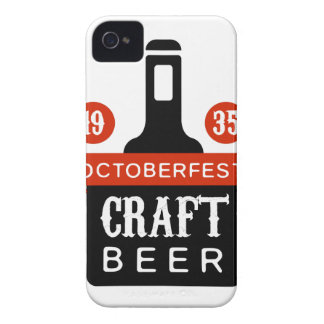 Oktoberfest Handwerks-Bier-Logo-Entwurfs-Schablone Case-Mate iPhone 4 Hülle