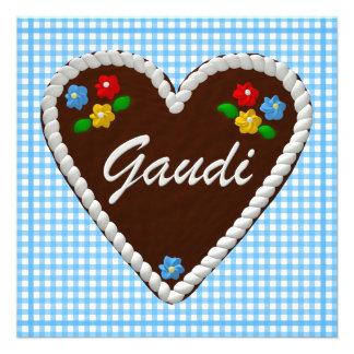 """Oktoberfest Herz """"Gaudi """" Einladungen"""