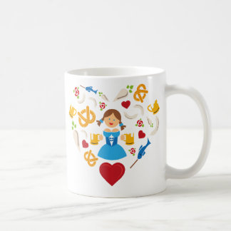 Oktoberfest Herz Kaffeetasse