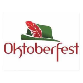 Oktoberfest Hütte Postkarte