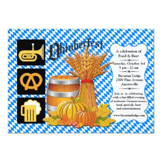 Oktoberfest Jahreszeit-Einladung 12,7 X 17,8 Cm Einladungskarte