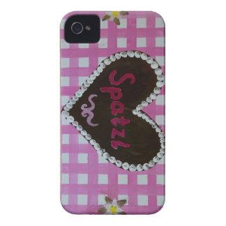 Oktoberfest - Lebkuckenherz Spatzl auf rosa Karos iPhone 4 Cover