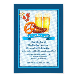 Oktoberfest Leckerei-Einladung 12,7 X 17,8 Cm Einladungskarte