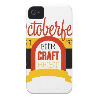 Oktoberfest Logo-Entwurfs-Schablone iPhone 4 Etuis
