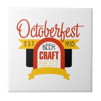 Oktoberfest Logo-Entwurfs-Schablone Keramikfliese
