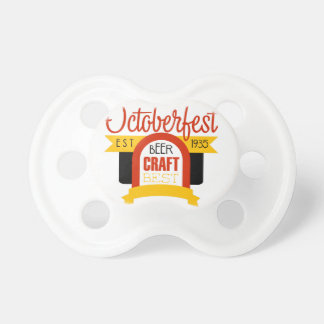 Oktoberfest Logo-Entwurfs-Schablone Schnuller