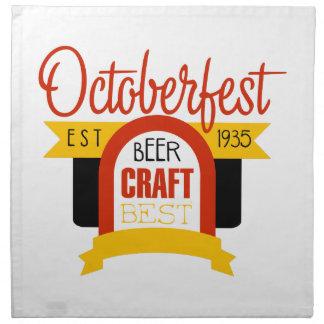 Oktoberfest Logo-Entwurfs-Schablone Stoffserviette