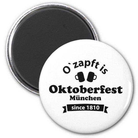 Oktoberfest O' zapft is Runder Magnet 5,7 Cm