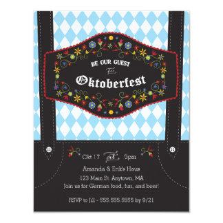 Oktoberfest (Octoberfest) deutsche Party Einladung Karte