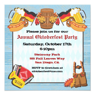 Oktoberfest Party Einladung auf altem hölzernem