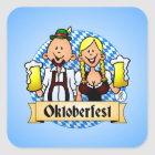 Oktoberfest Quadratischer Aufkleber