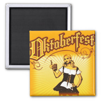 Oktoberfest Quadratischer Magnet