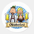 Oktoberfest Runder Aufkleber