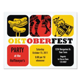 Oktoberfest Spaß-Party Einladung 10,8 X 14 Cm Einladungskarte