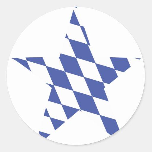 oktoberfest Stern des Bayerns Runder Aufkleber