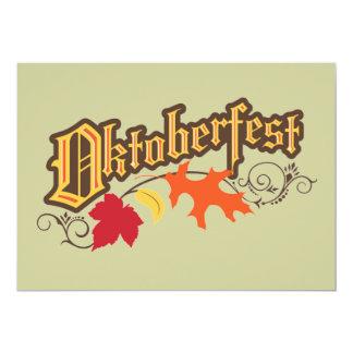 oktoberfest Text- und Herbst-Blättereinladung 12,7 X 17,8 Cm Einladungskarte