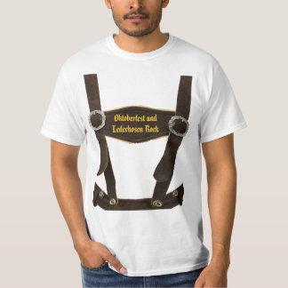 Oktoberfest und Lederhosen-Felsen T-Shirt