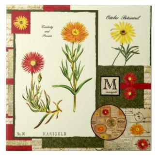 Oktobers Blume Große Quadratische Fliese