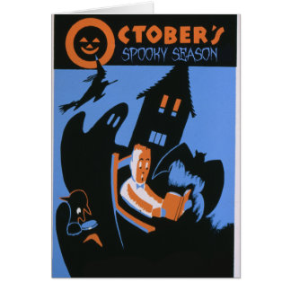 Oktobers gespenstische Jahreszeit Karte