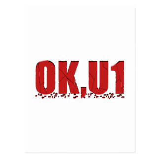 OKU1 im Rot Postkarte