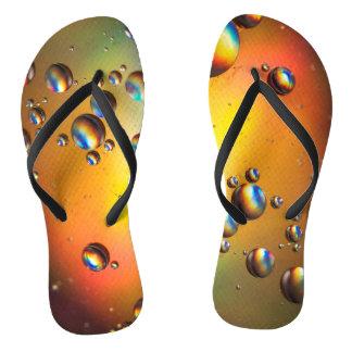 Öl auf Wasser Flip Flops