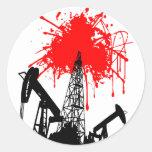 Öl des Bluts Stickers