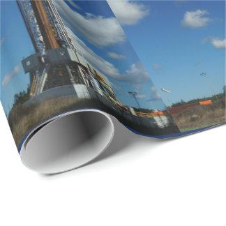 Öl-Gas-Anlage-Bohrungs-Druck-Geschenk-Packpapier Geschenkpapier