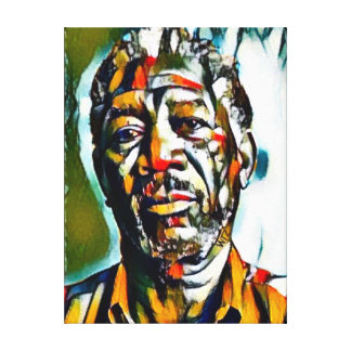 Öl Morgans Freeman auf Leinwand-Porträt Leinwanddruck