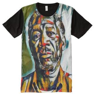 Öl Morgans Freeman auf Leinwand-Porträt T-Shirt Mit Bedruckbarer Vorderseite