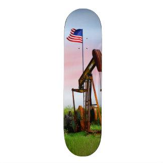 Öl-Pumpe mit amerikanischer Flagge Individuelles Skateboard