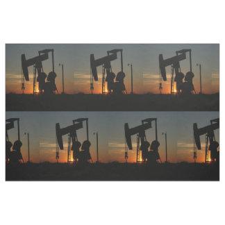 "Öl-Pumpen-Jack an Sonnenuntergang 9"" Stoff"