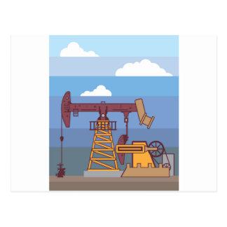 Öl-pumpende Anlage Postkarte
