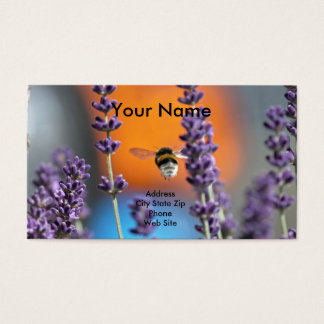 Öl-Visitenkarten mit Lavendel Visitenkarte