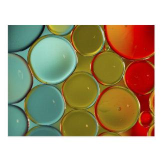 Ölblasen mit farbigem Hintergrund Postkarten