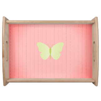 Old_MEMORIES_Moth Butterfly-Wood-Wainscoting_ Tablett