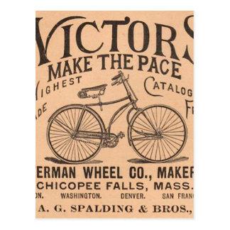 Old Timey Pennyfarthing viktorianisches Fahrrad Postkarte